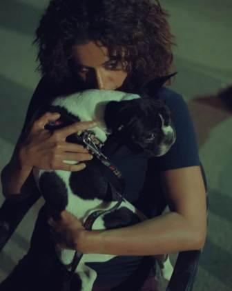 Taapsee Pannu with her pet dog
