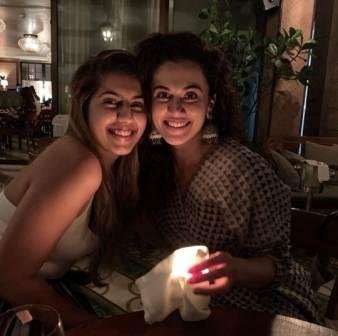 Taapsee Pannu with her younger sister Shagun Pannu