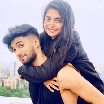Zeeshan Khan with her girlfriend Aparna Mishra