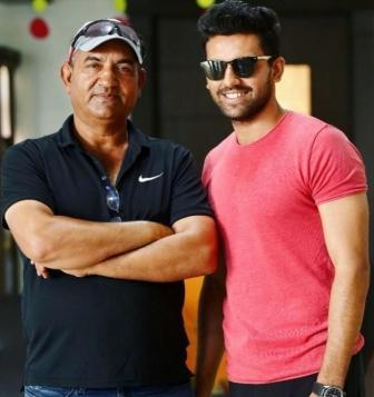 Deepak Chahar with his father Lokendra Singh Chahar