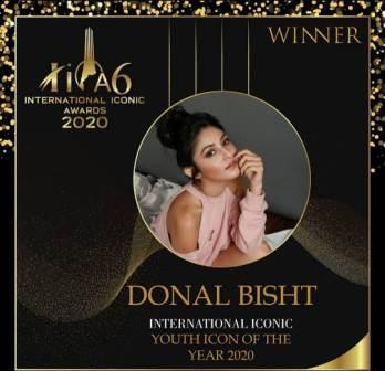 Donal Bisht winner of the International Iconic of the year 2020 award
