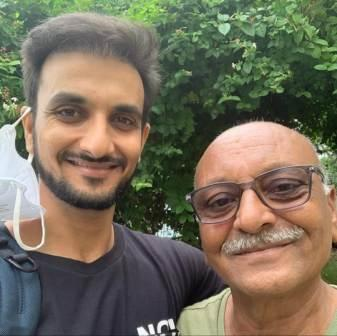 Harshal Patel with his father Vikram Patel
