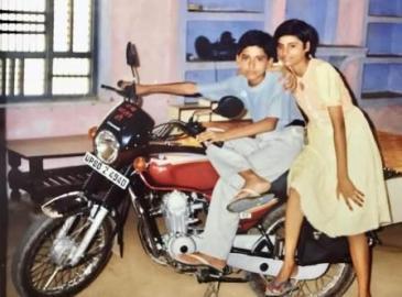 Malti Chahar childhood photo