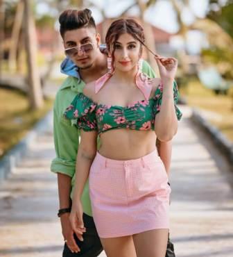 Miesha Iyer with his boyfriend Ashish Bhatia