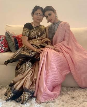 Mouni Roy with her mother Mukhar Roy