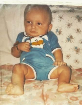 Siddharth Bhardwaj childhood photo