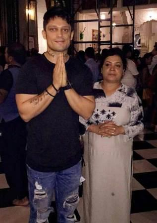 Siddharth Bhardwaj with her mother