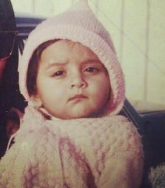 Tejasswi Prakash childhood photo