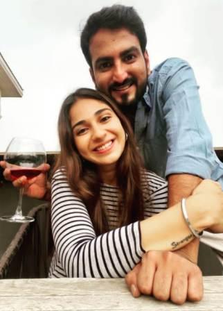 Vidhi Pandya with his boyfriend Aryan Chaudhary